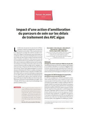 Impact d'une action d'amélioration du parcours de soin sur les délais de traitement des AVC aigus