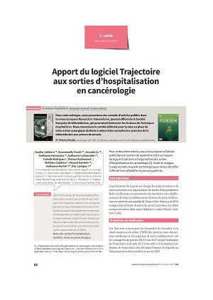 Apport du logiciel Trajectoire aux sorties d'hospitalisation en cancérologie