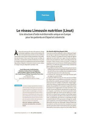 Le réseau Limousin nutrition (Linut) : une structure d'aide nutritionnelle unique en Europe pour les patients en Ehpad et à domicile