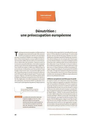 * Dénutrition : une préoccupation européenne