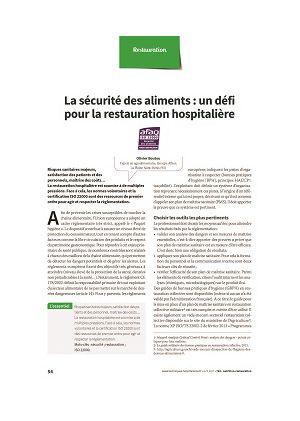 La sécurité des aliments : un défi pour la restauration hospitalière