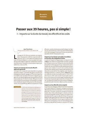 Passer aux 39 heures, pas si simple - Jean-Pierre Danos