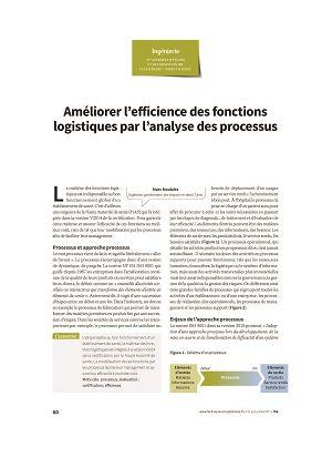 Améliorer l'efficience des fonctions logistiques par l'analyse des processus