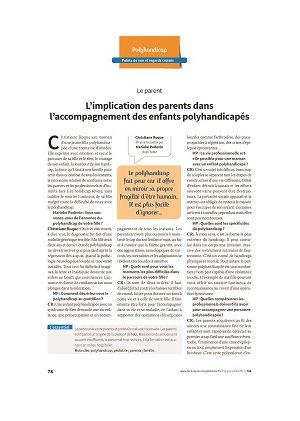 Points de vue et regards croisés - Le parent (L'implication des parents dans l'accompagnement des enfants polyhandicapés)
