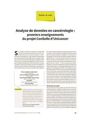 Analyse de données en cancérologie : premiers enseignements du projet ConSoRe d'Unicancer