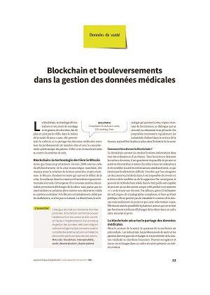 Blockchain et bouleversements dans la gestion des données médicales