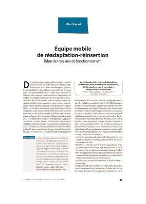 Équipe mobile de réadaptation-réinsertion. Bilan de trois ans de fonctionnement