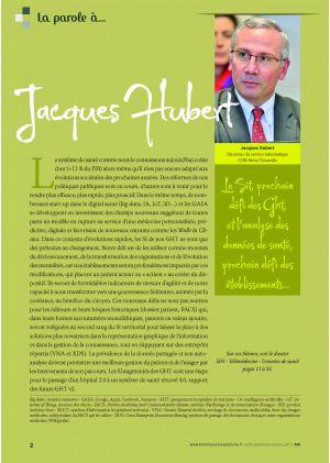 La parole à Jacques Hubert