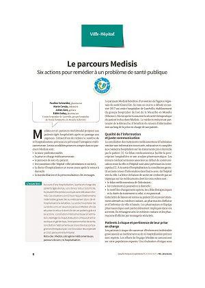 Le parcours Medisis : six actions pour remédier à un problème de santé publique
