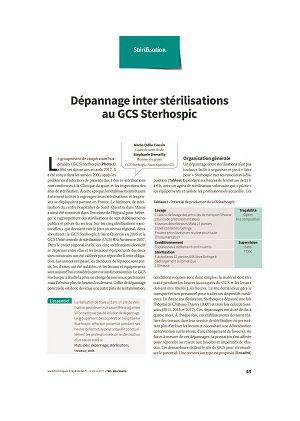 Dépannage inter stérilisations au GCS Sterhospic