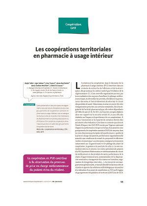 Les coopérations territoriales en pharmacie à usage intérieur