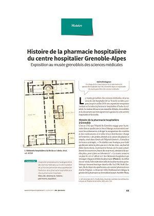 Histoire de la pharmacie hospitalière du centre hospitalier Grenoble-Alpes