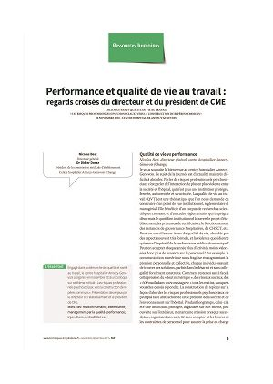 Performance et qualité de vie au travail : regards croisés du directeur et du président de CME