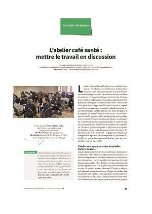L'atelier café santé : mettre le travail en discussion