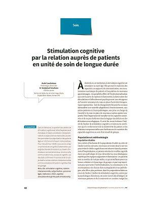 Stimulation cognitive par la relation auprès de patients en unité de soin de longue durée