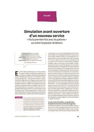 Simulation avant ouverture d'un nouveau service « Pas la première fois avec les patients » au centre hospitalier de Béziers