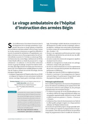 Le virage ambulatoire de l'hôpital d'instruction des armées Bégin