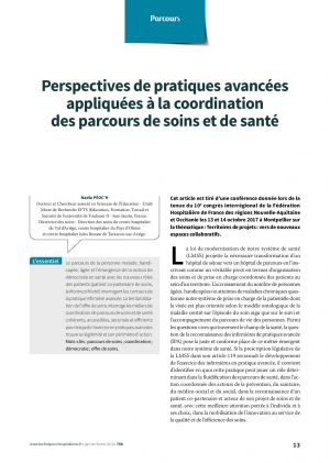 Perspectives de pratiques avancées appliquées à la coordination des parcours de soins et de santé
