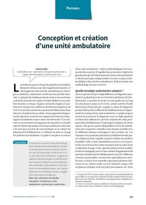 Conception et création d'une unité ambulatoire