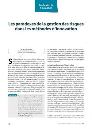 Les paradoxes de la gestion des risques dans les méthodes d'innovation