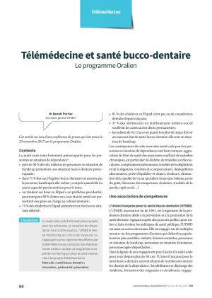 Télémédecine et santé bucco-dentaire