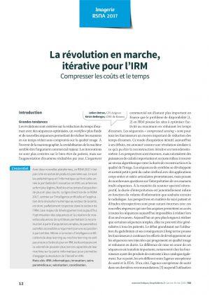 La révolution en marche, itérative pour l'IRM