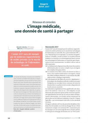 Réseaux et consoles : L'image médicale, une donnée de santé à partager