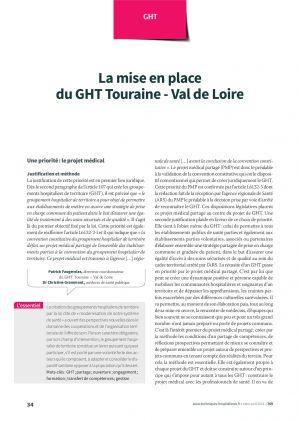 Patrick Faugerolas, directeur coordonnateur du GHT Touraine – Val de Loire Dr Christine Grammont, médecin de santé publique