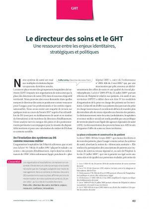 Le directeur des soins et le GHT