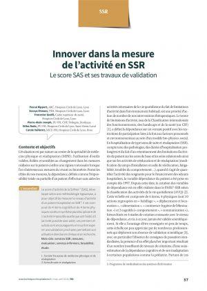 Innover dans la mesure de l'activité en SSR