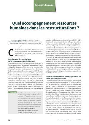 Quel accompagnement ressources humaines dans les restructurations ?