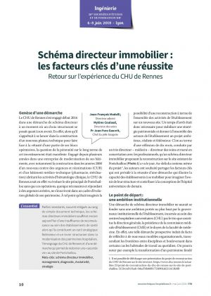 Schéma directeur immobilier : les facteurs clés d'une réussite - Retour sur l'expérience du CHU de Rennes