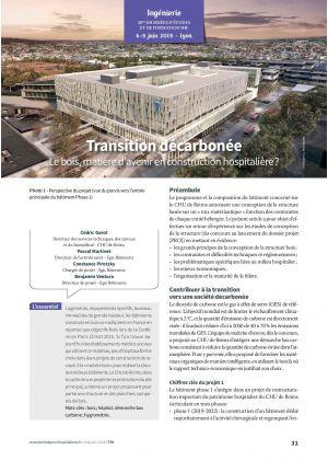 Transition décarbonée - Le bois, matière d'avenir en construction hospitalière ?
