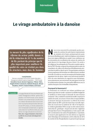 Le virage ambulatoire à la danoise