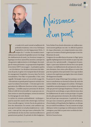 [article en accès libre] Éditorial - Romain Bonfillon Rédacteur en chef de Techniques hospitalières -