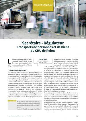 Secrétaire - Régulateur Transports de personnes et de biens au CHU de Reims