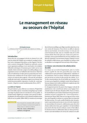 Le management en réseau au secours de l'hôpital