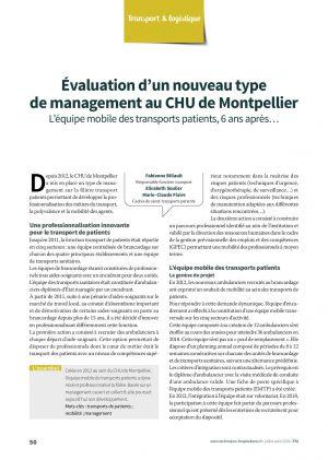 Évaluation d'un nouveau type de management au CHU de Montpellier