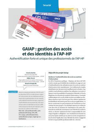 GAIAP : gestion des accès et des identités à l'AP-HP