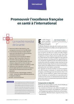 Promouvoir l'excellence française en santé à l'international