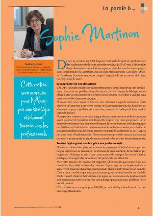 La parole à Sophie Martinon, Directrice générale de l'ANAP