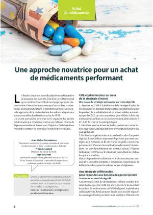 Une approche novatrice pour un achat de médicaments performant