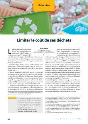 Limiter le coût de ses déchets