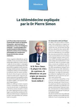La télémédecine expliquée par le Dr Pierre Simon