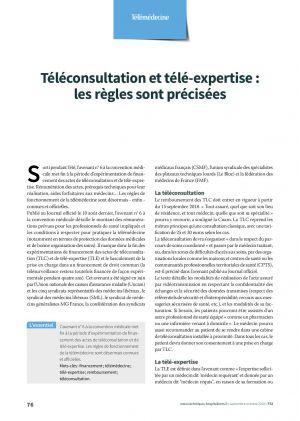 Téléconsultation et télé-expertise : les règles sont précisées