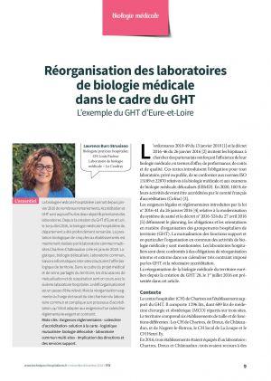Réorganisation des laboratoires de biologie médicale dans le cadre du GHT