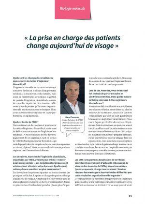« La prise en charge des patients change aujourd'hui de visage »