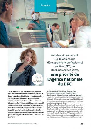 Valoriser et promouvoir les démarches de développement professionnel continu (DPC) en établissement de santé, une priorité de l'Agence nationale du DPC