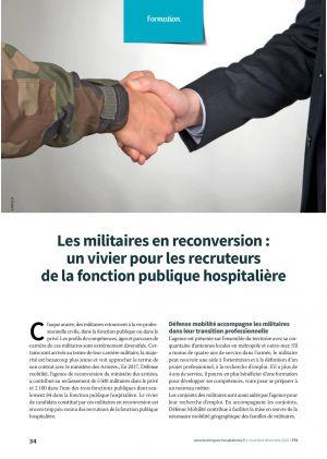Les militaires en reconversion : un vivier pour les recruteurs de la fonction publique hospitalière