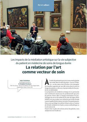 Les impacts de la médiation artistique sur la vie subjective du patient en médecine de soins de longue durée La relation par l'art comme vecteur de soin